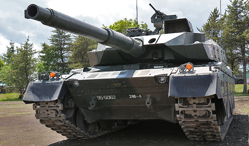 見上げる戦車